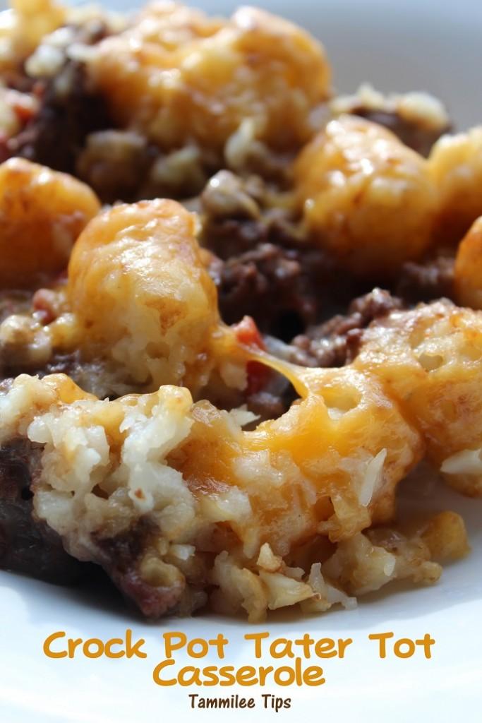 Crockpot tater tot casserole | 25+ Slow Cooker Recipes Kids Love