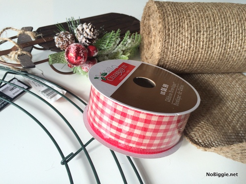 Cute gingham ribbon from Michaels | NoBiggie.net