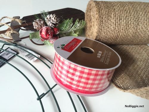 Cute gingham ribbon from Michaels | NoBiggie.net