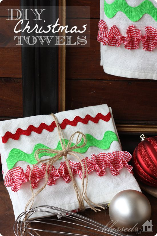 diy christmas kitchen towels 25 more handmade gift ideas under 5