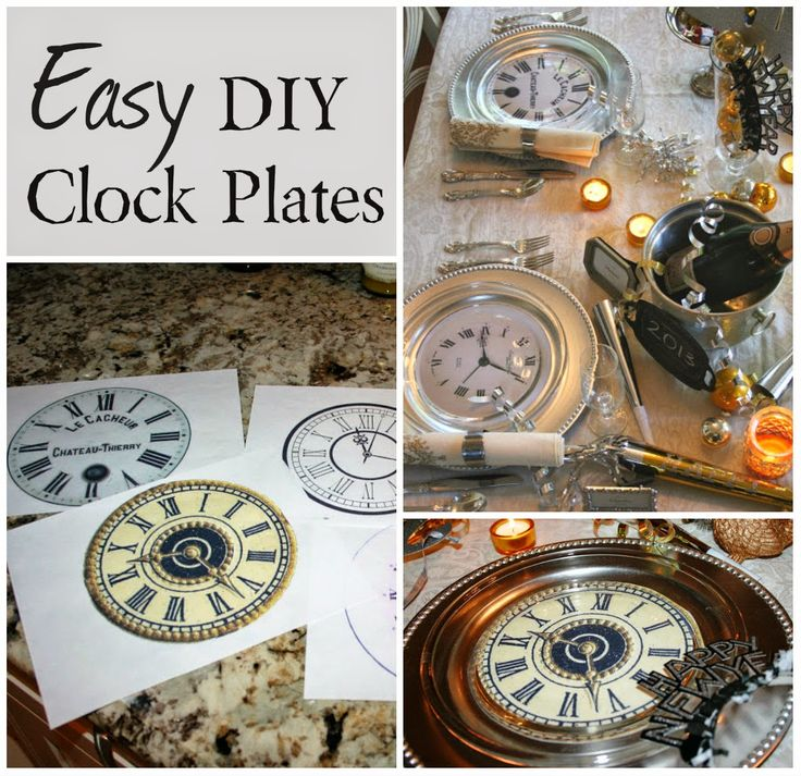 Easy DIY Clock Plates | 25+ New Year's Eve Party Ideas
