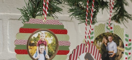DIY washi tape Christmas picture ornaments | NoBiggie.net