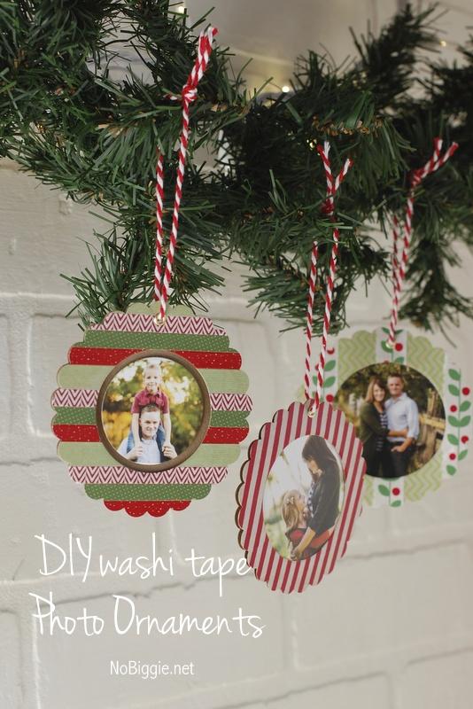 DIY Washi Tape Photo Ornaments | NoBiggie