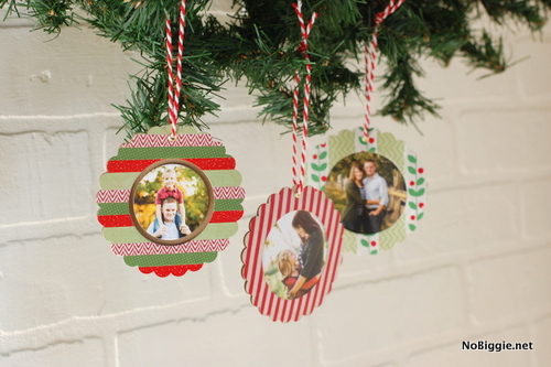 DIY washi tape ornaments | NoBiggie.net