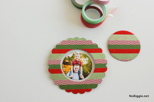 DIY washi tape photo ornaments | NoBiggie.net