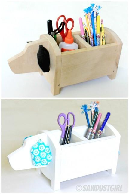 Dog Shaped Caddy | 25+ handmade gift ideas under $5