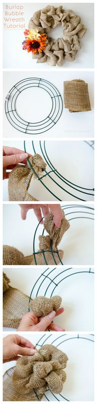 Easy Burlap Wreath | Craftaholics Anonymous