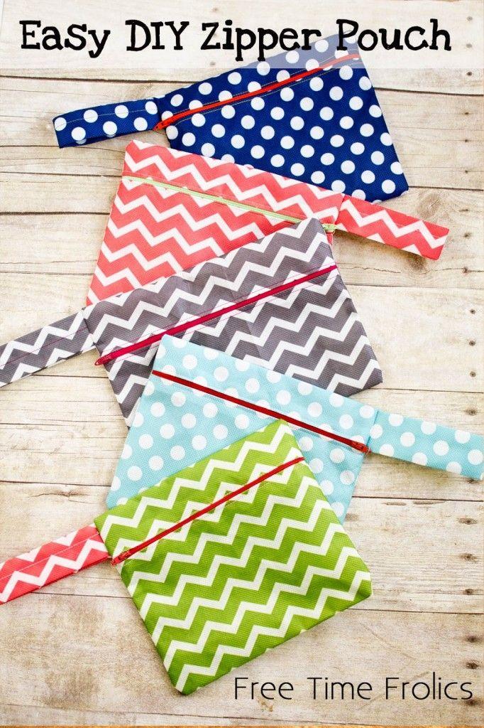 Easy DIY Zipper Pouch | 25+ More Handmade Gift Ideas Under $5