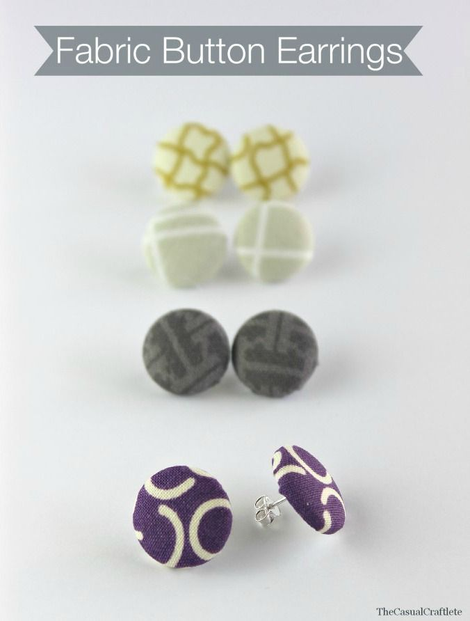 Fabric Button Earring | 25+ More Handmade Gift Ideas Under $5