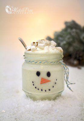 Frosty the Snowman Christmas Smoothie 25+ Fun Christmas Breakfast Ideas for Kids | NoBiggie.net