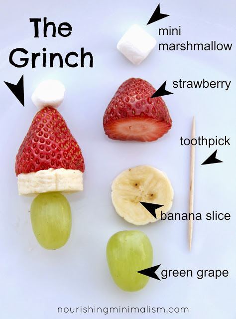 Grinch Kabobs 25+ Fun Christmas Breakfast Ideas for Kids | NoBiggie.net