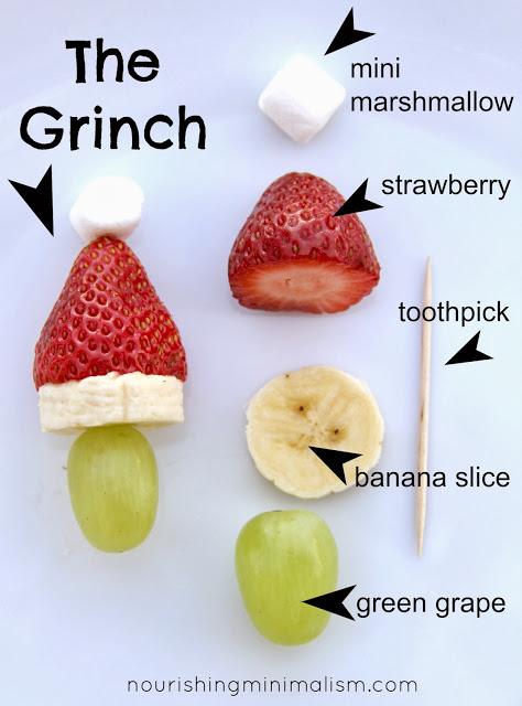 Grinch Kabobs 25+ Fun Christmas Breakfast Ideas for Kids | NoBiggie.net
