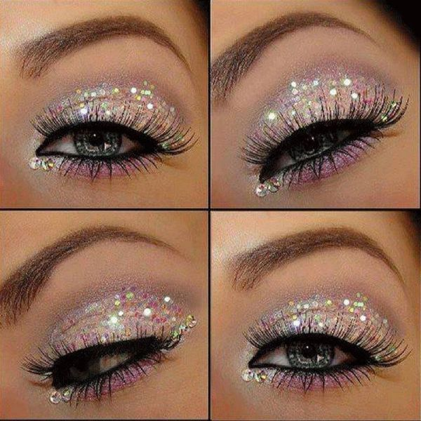 How to Apply Glitter Eye Makeup | 25+ New Year's Eve Party Ideas