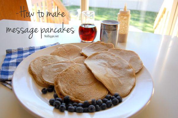 How to Make Message Pancakes 25+ Fun Christmas Breakfast Ideas for Kids | NoBiggie.net