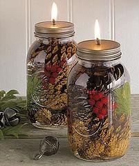 Mason Jar Oil lamp | 25+ handmade gift ideas under $5