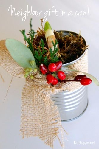 Neighbor Gift in a Can | 25+ More Handmade Gift Ideas Under $5