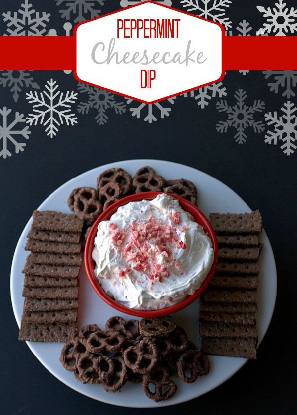 Peppermint cheesecake dip | 25+ peppermint recipes