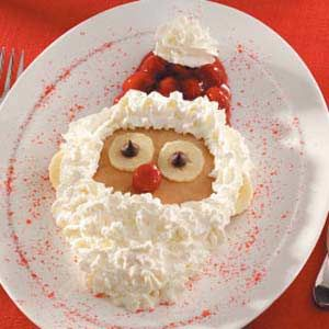 Santa Pancakes 25+ Fun Christmas Breakfast Ideas for Kids   NoBiggie.net