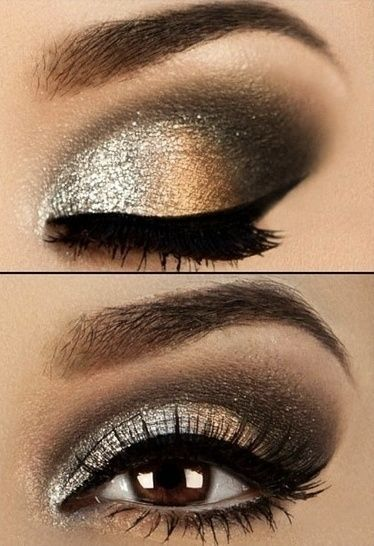 Simple Gold Eye Makeup Tutorial | 25+ New Year's Eve Party Ideas