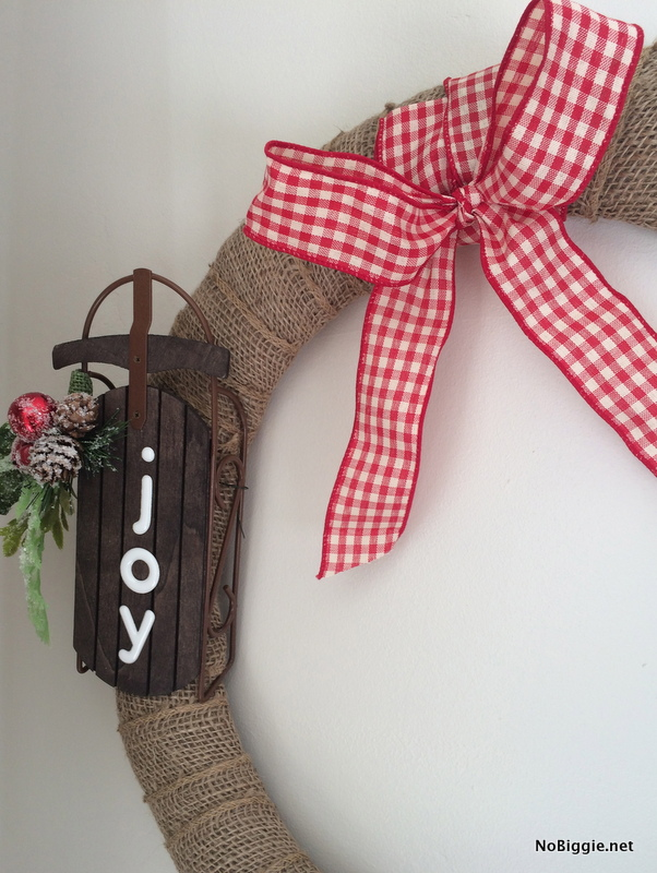 Simple burlap wreath | NoBiggie.net