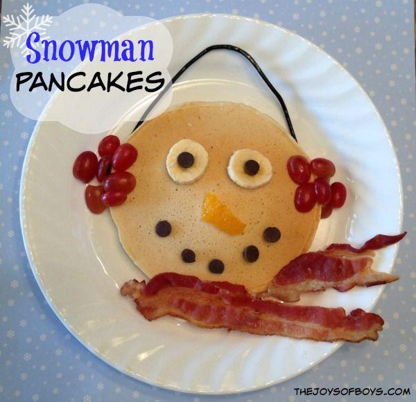 Snowman Pancakes 25+ Fun Christmas Breakfast Ideas for Kids | NoBiggie.net