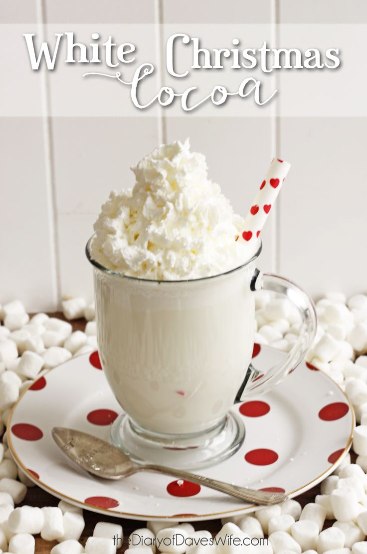 White Christmas Cocoa 25+ Fun Christmas Breakfast Ideas for Kids | NoBiggie.net