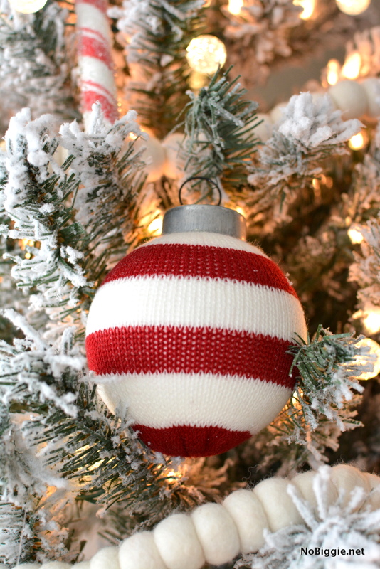 cozy sweater ornament balls | NoBiggie.net