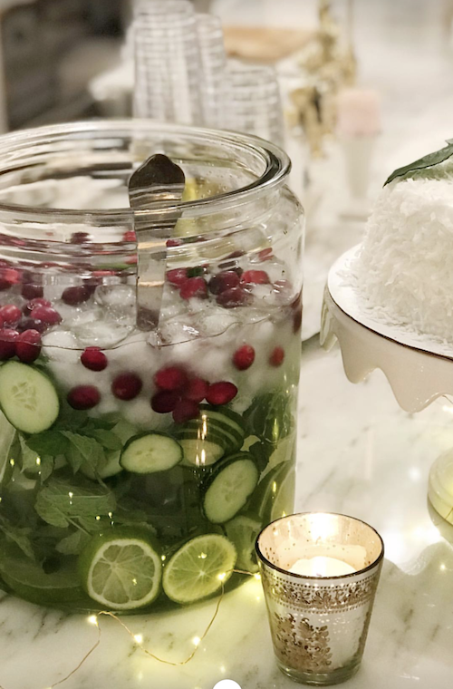 fruit water | Healthy holiday snacks + drinks