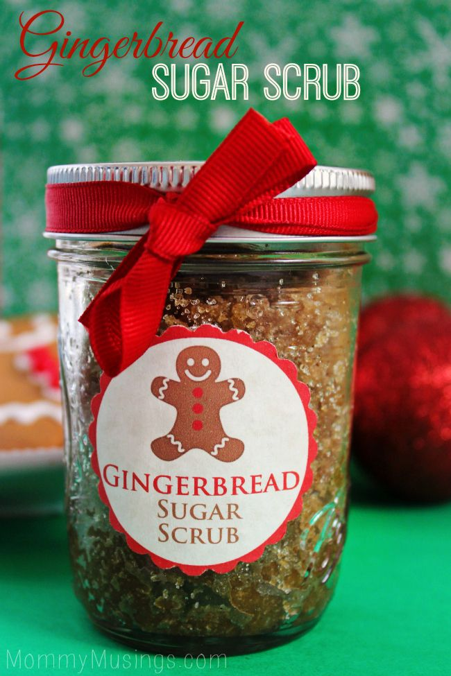 Gingerbread Sugar Scrub | 25+ Mason Jar Gift Ideas