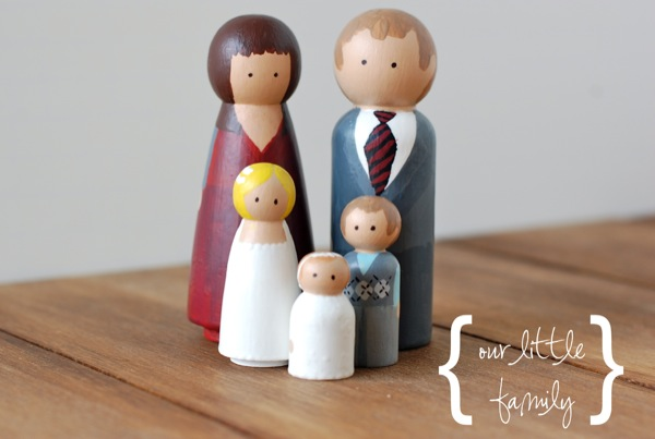 personalized wooden peg family   25+ handmade gift ideas under $5