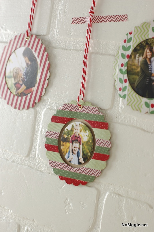 washi tape Christmas ornaments | NoBiggie.net
