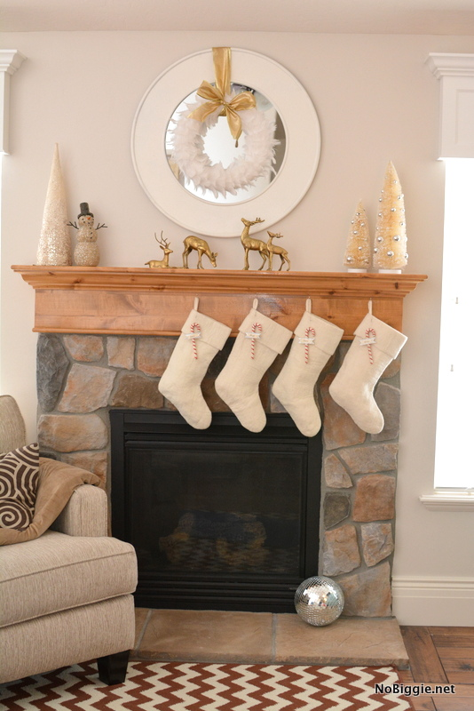 white Christmas Mantle | NoBiggie.net