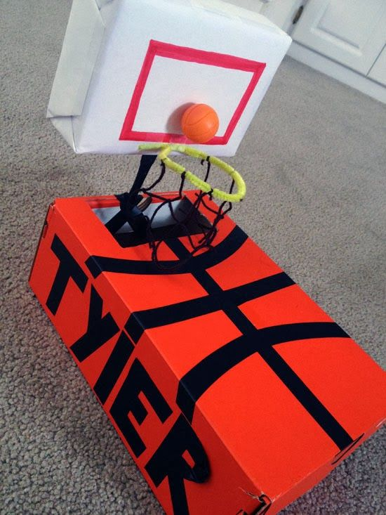 25 creative valentine boxes for Homemade basketball court