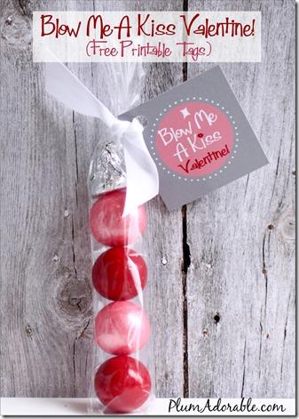 Blow me a kiss Valentine - 25+ Creative Classroom Valentines - NoBiggie.net