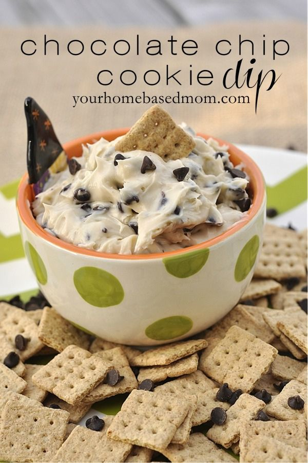 Chocolate Chip Cookie Dip | 25+ Game Day Foods