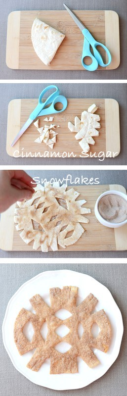 Cinnamon Sugar Snowflakes | 25+ Indoor Winter Activities for kids