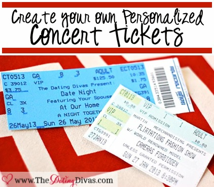 DIY Concert Tickets | 25+ sweet gifts for him for Valentine's Day
