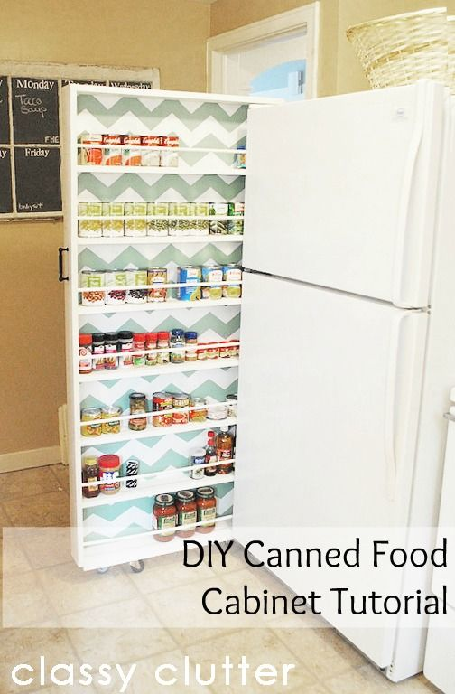 DIY Canned Food Cabinet Tutorial | 25+ Organization ideas for the home