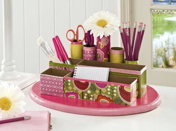 DIY Desk Organizer | 25+ Home Organization ideas