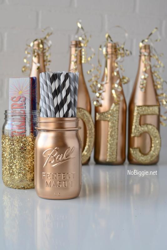 DIY Gold mason jar | NoBiggie.net