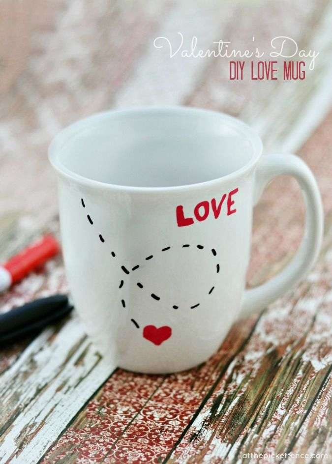 DIY Love Mug | 25+ Sweet Gifts for Him for Valentine's Day