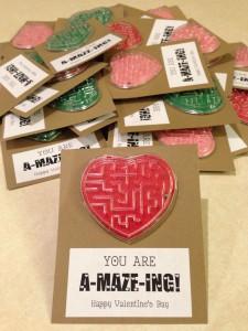 Mini maze Valentine - 25+ Creative Classroom Valentines - NoBiggie.net