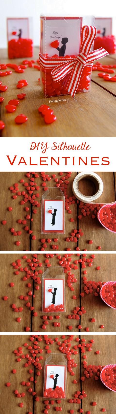 DIY silhouette Valentines | NoBiggie.net
