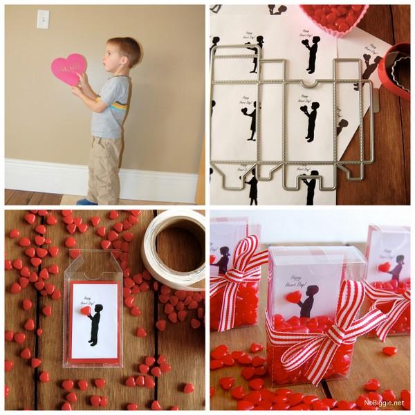 DIY silhouette valentine treats | NoBiggie.net