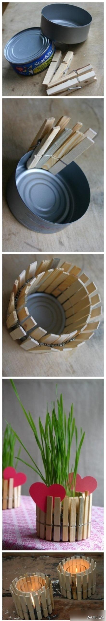 DIY tuna can to vase