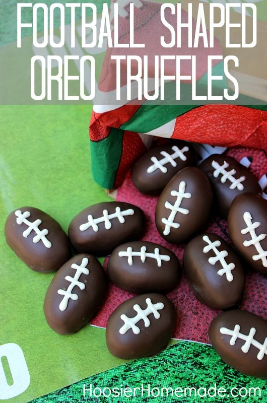Football Shaped Oreo Truffles | 25+ Game Day Foods