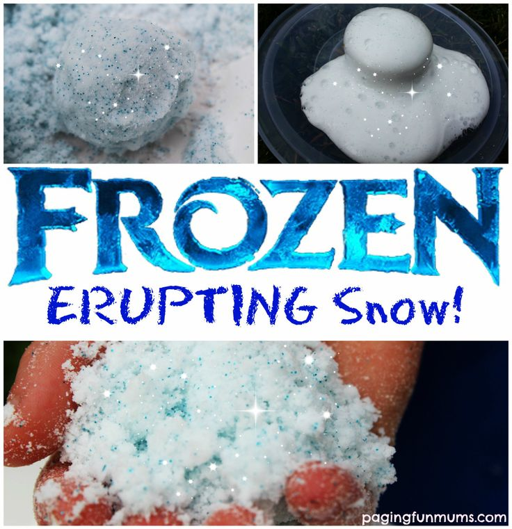 Frozen Erupting Snow | 25+ Indoor Winter Activities for Kids