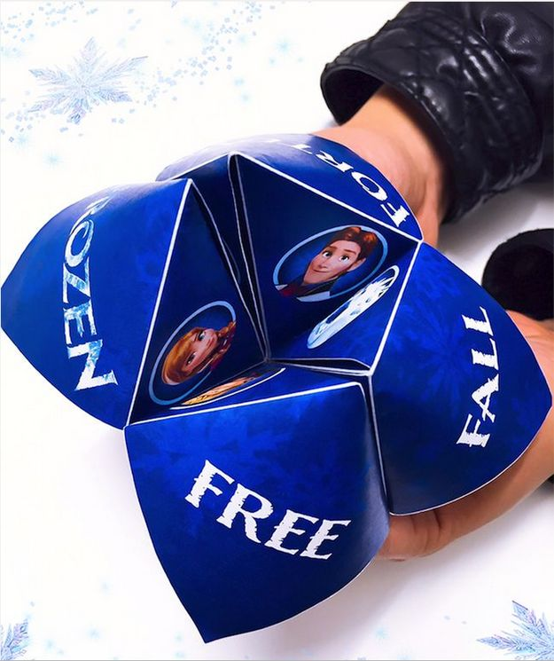 Frozen Free Fall Fortune Teller | 25+ Indoor Winter Activities for Kids