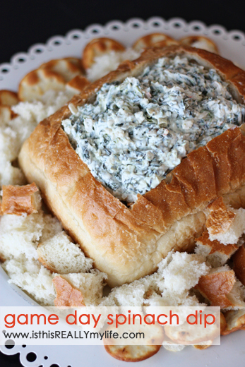 Game Day Spinach Dip | 25+ Game Day Foods