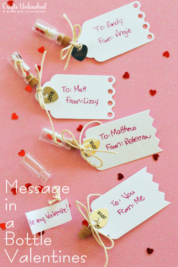 Handmade Message in a Bottle Valentines | 25+ Sweet Gifts for Him for Valentine's Day